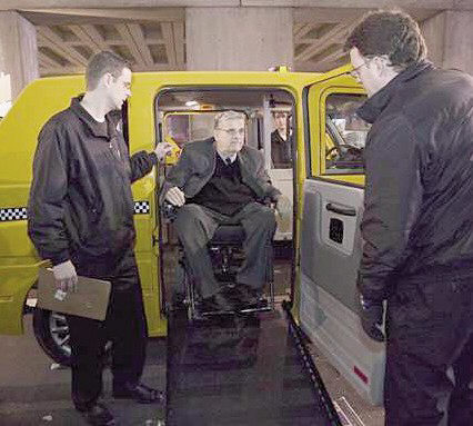 United Spinal Association Test Rides Standard Taxi