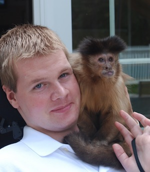 Rescue Monkey Becomes Helping Hand After Man's Accident