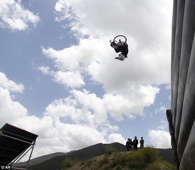 Disabled stuntman pulls off biggest wheelchair backflip yet on 50ft 'giganta ramp'