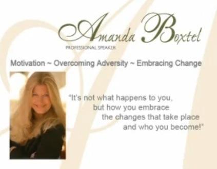 Amanda Boxtel, Motivational speaker