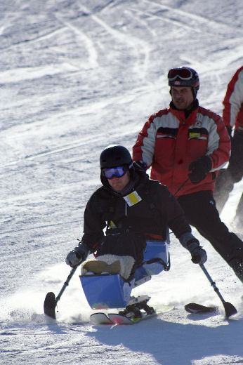 Sit-skiers find freedom on the slopes