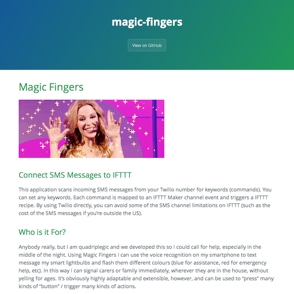 Magic Fingers SMS Helper – Connect SMS Messages to IFTTT