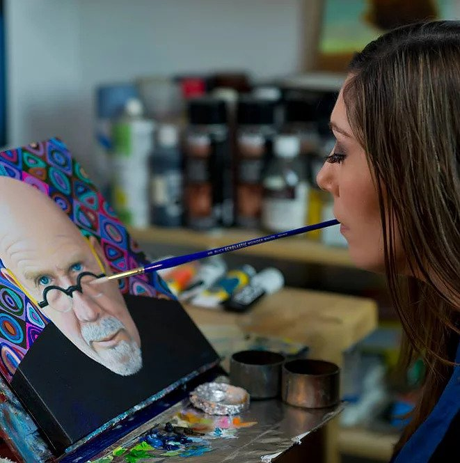 Paralyzed By Bullet, Artist Mariam Pare Becomes Master Of Painting With Her Mouth