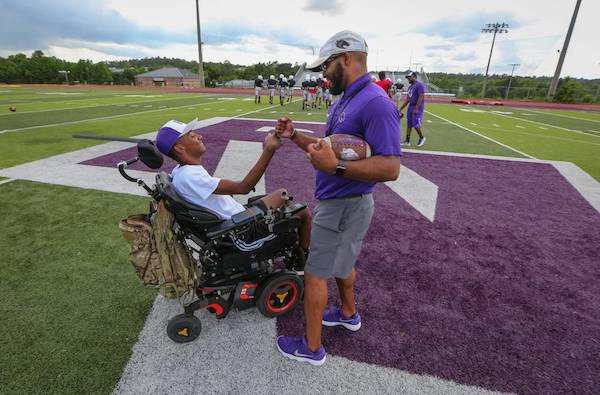 Football injury left Midlands player paralyzed. Now he's finding new joy in the sport