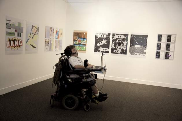Quadriplegic man's art reflects life's journey