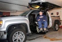 Ryan Baetke's modified accessible truck