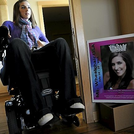 It was a 16-foot fall, 16 years ago. She has soared much further.