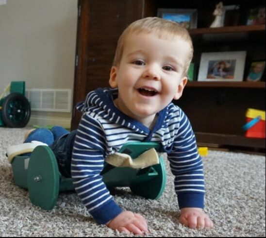 Toddler With Spina Bifida Can Now Get Around Thanks to Dad's Creative Invention