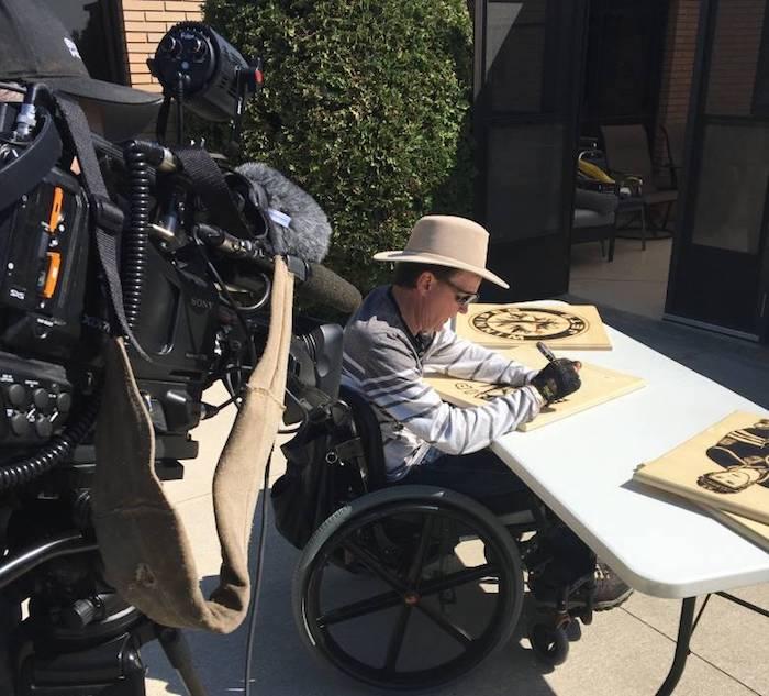 Burning desire: Quadriplegic artist turns sun's rays into portrait of Oilers' McDavid
