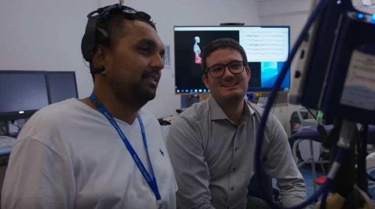 Quadriplegic doctor working on helping spinal patients walk again