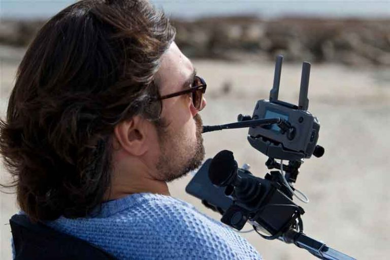 Drone gives paralysed former surfer a new perspective on life