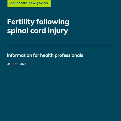 Fertility following spinal cord injury