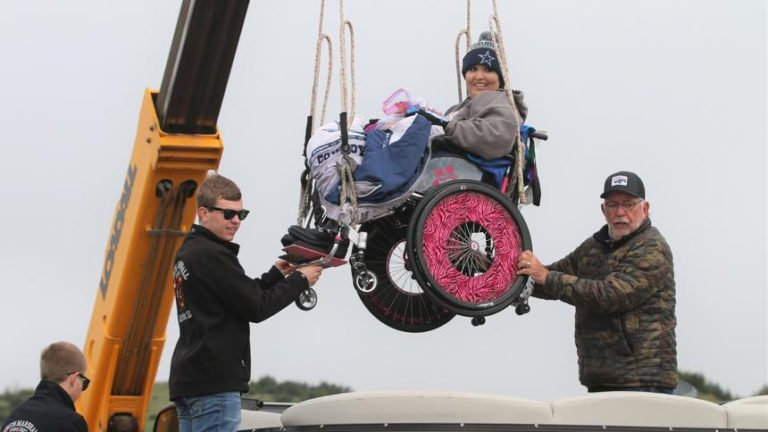 A memorable fishing experience for paralyzed veterans