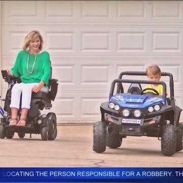 Quadriplegic mother over comes the odds; reaches goals