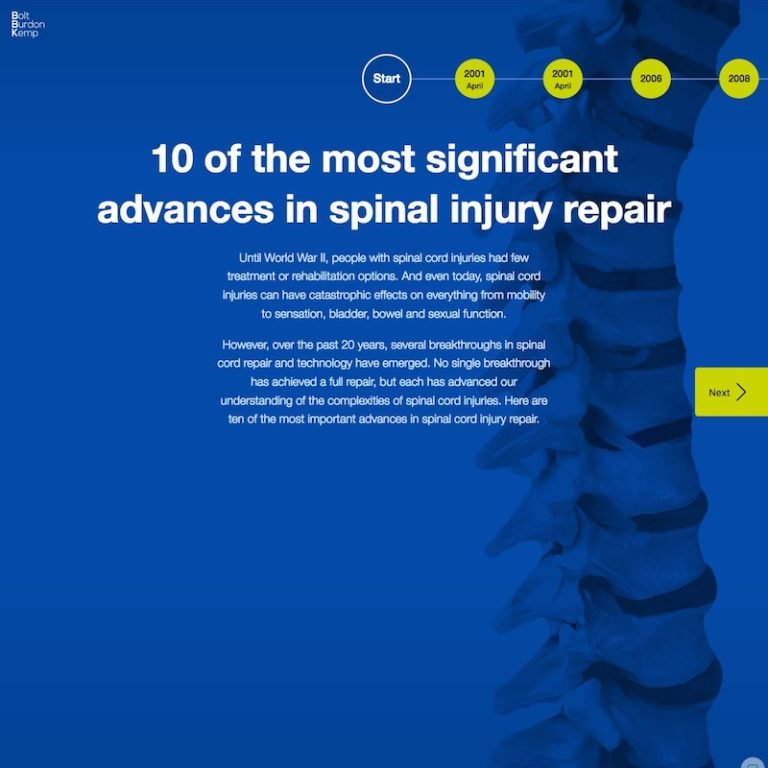 10 of the most significant advances in spinal injury repair