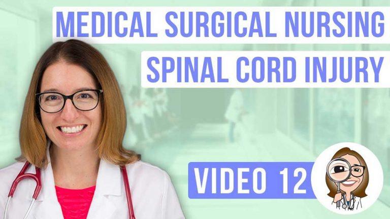 Medical Surgical Nursing – Spinal Injury
