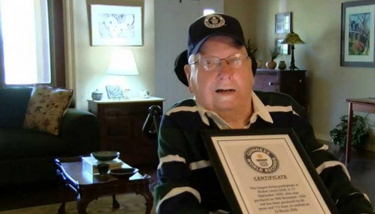 Walter Lewis holds world record for longest living quadriplegic