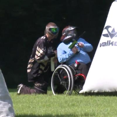wheelchair paintball