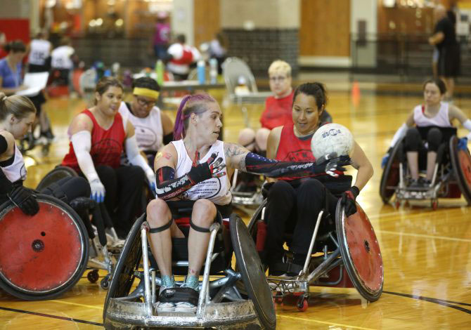 Women's wheelchair rugby takes over Houston